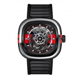Replique Montre SevenFriday P3-Bb en acier inoxydable/PVD/Rouge