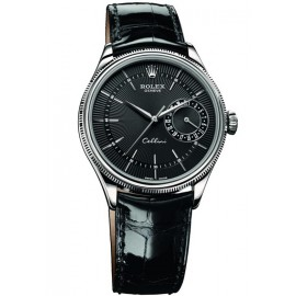 Copie Rolex Cellini Date en or blanc 50519 bkbk