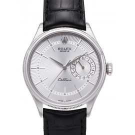 Copie Rolex Cellini Date en or blanc 50519 sbk