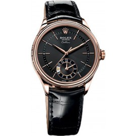 Copie Rolex Cellini Dual Time Everose Gold 50525 bkbk