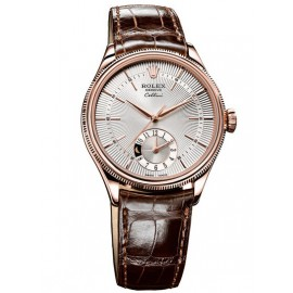 Copie Rolex Cellini Dual Time Everose Gold 50525 sbr
