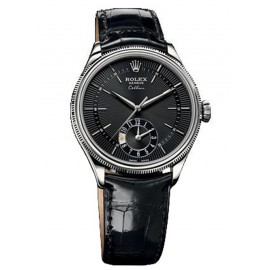 Copie Rolex Cellini Dual Time en or blanc 50529 bkbk