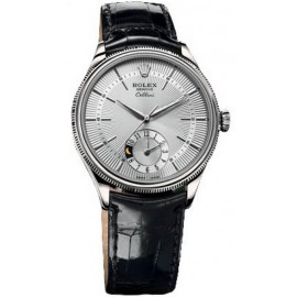 Copie Rolex Cellini Dual Time en or blanc 50529 sbk
