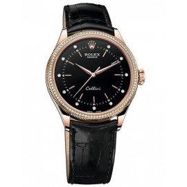 Copie Rolex Cellini Time Rose Gold & diamants 50605RBR