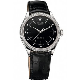 Copie Rolex Cellini Time or blanc 18ct 50609 RBR