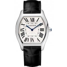 Copie Cartier Tortue montre en or blanc WGTO0003