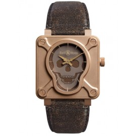 Replique Montre Bell & Ross Aviation BR 01 Skull Bronze
