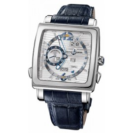 Ulysse Nardin Quadrato Dual Time Perpetual 320-90/91 Montre Replique
