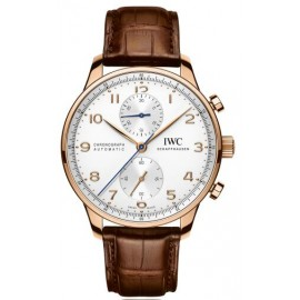 Replique Montre IWC Portuguese Chronographe or rose IW371480