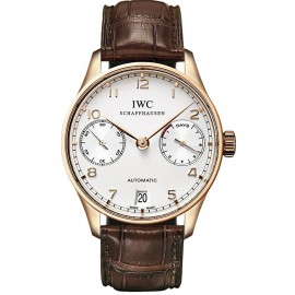 Replique Montre IWC Portuguese Automatique Rose Or IW500113