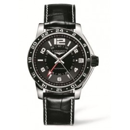 Copie Longines Admiral GMT Noir L3.668.4.56.0