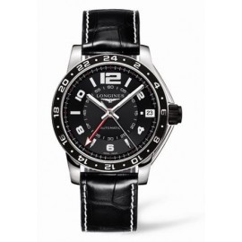 Copie Longines Admiral GMT Noir XL L3.668.4.56.2