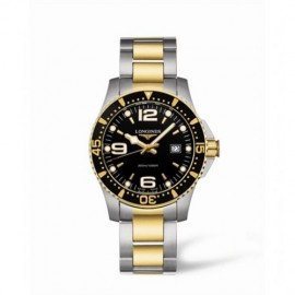 Copie Longines Hydroconquest Quartz 39 Two Tone Noir L3.640.3.56.7