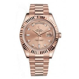 Copie Rolex Day-Date II Champagne Dial Automatique 18K Rose Gold president