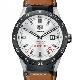 Replique Tag Heuer Connected Brown Leather Strap SAR8A80.FT6070