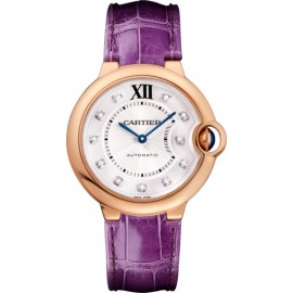 Replique Montre Cartier Ballon Bleu de Cartier 36 Or rose automatique WJBB0010
